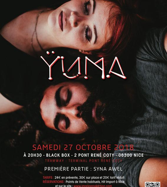 Ÿuma + Syna Awel à Nice le 27 octobre 2018