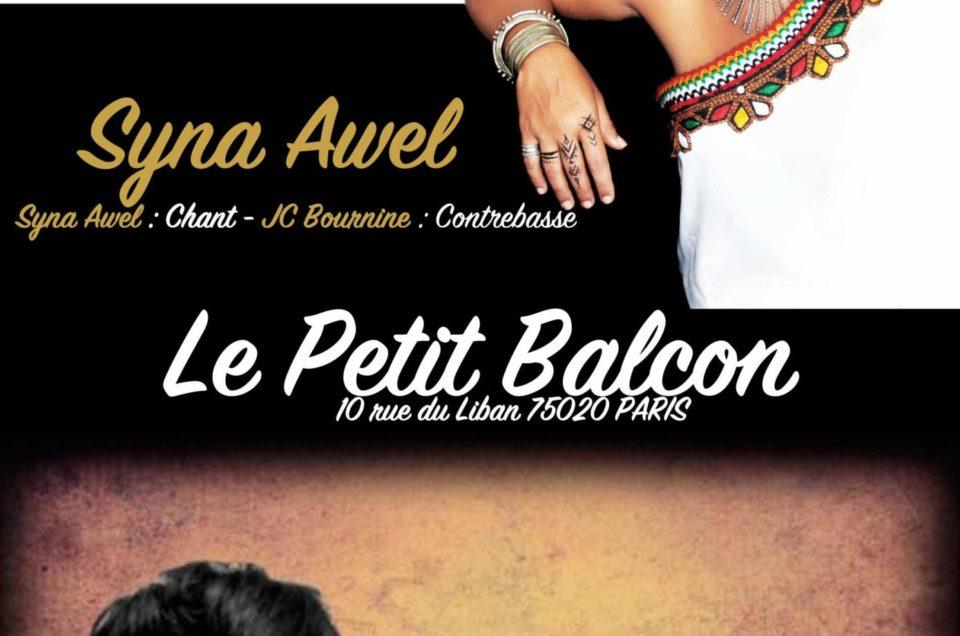 Syna Awel + Tarik Leoz le 5 déc 2019 Le Petit Balcon à Paris